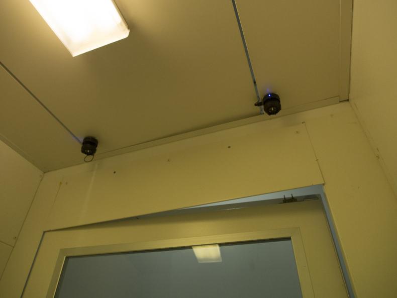 Speakers on ceiling